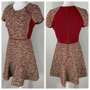 J CREW Mixed Tweed Dress Short Sleeve career